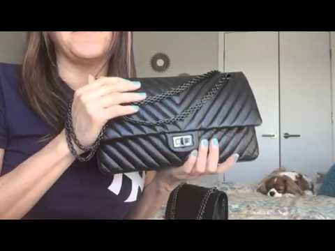 1f8641c892fb Comparison between Chanel Reissue 226 and M/L Classic Flap Bag - YouTube