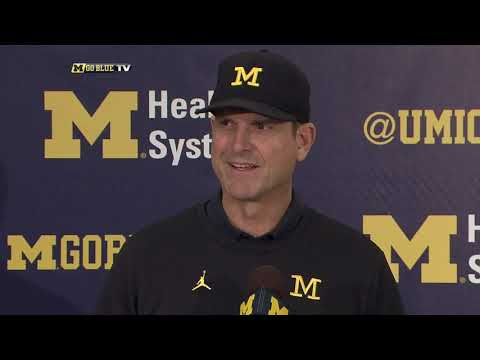 Jim Harbaugh Penn State Week Press Conference