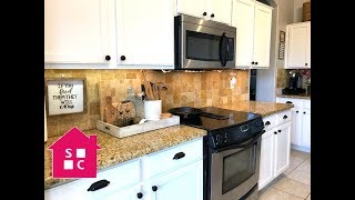 Kitchen Tour: How I Organize the Countertops and Above the Cabinets {Ep. 3}