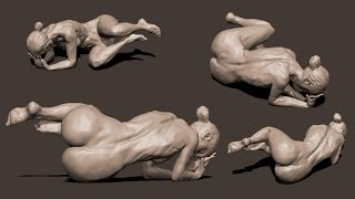zbrush sculpting from live modele #12