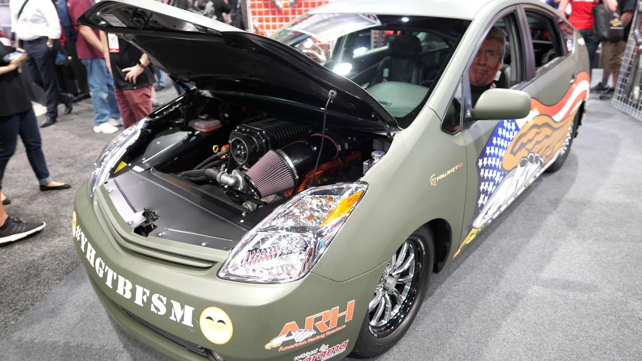 PRIUS SRT8 - Toyota Prius with a Supercharged Hellcat V8 ...
