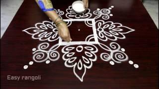 easy rangoli designs with 3x3 straight dots || simple kolam designs || muggulu designs
