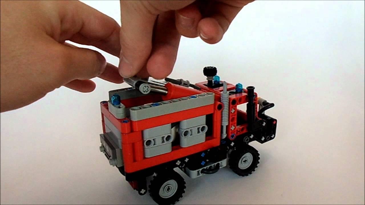 lego technic mini unimog fire brigade youtube. Black Bedroom Furniture Sets. Home Design Ideas