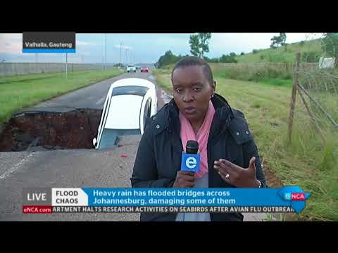 eNCA's Bongiwe Khumalo has the latest on floods damaging Gauteng infrastructure