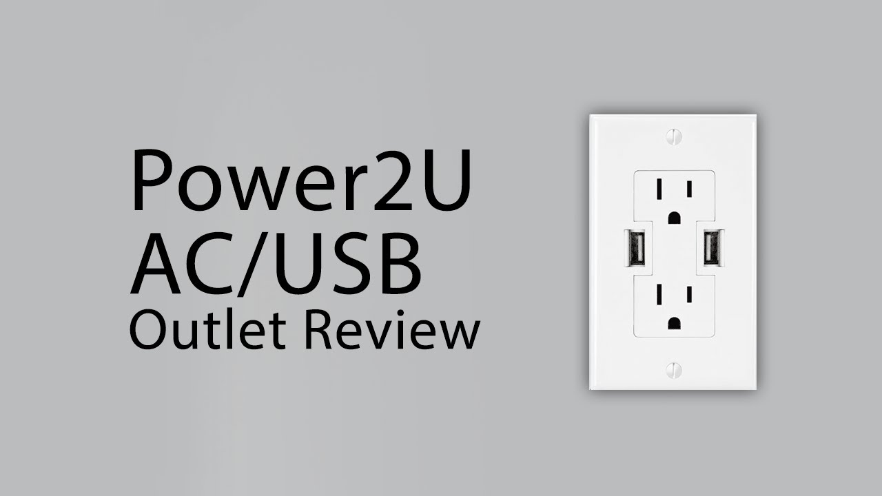 Review] OWC\'s Power2U AC/USB Wall Outlet - YouTube