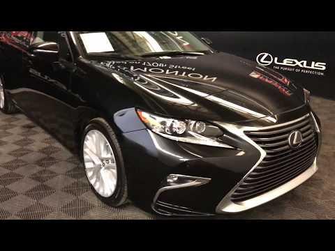 Black 2018 Lexus ES Executive Package Review Edmonton Alberta - Lexus of Edmonton