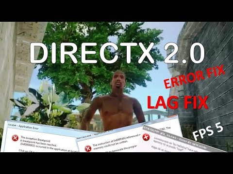 Gta San Andreas Directx 2.0 Mod Lag, Error, Crash And Problems Fix || Lag Fix And Windows 10 Fix
