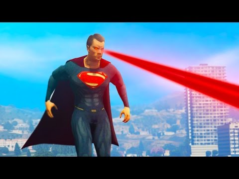 GTA 5 Mods - ULTIMATE SUPERMAN MOD! (GTA 5 Funny Moments)