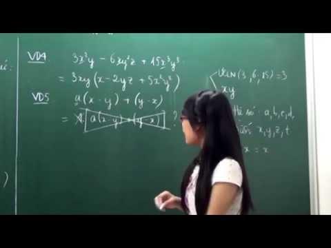 Toán lớp 8 - Phương pháp đặt nhân tử chung - Cô Trịnh Thị Thúy [Hocmai.vn]