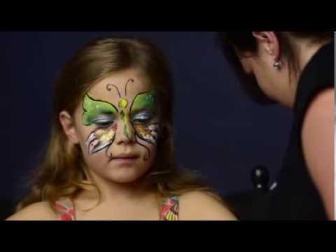 Schmetterling Schminken Mit Kiomi Kids Kinderschminken Anleitung