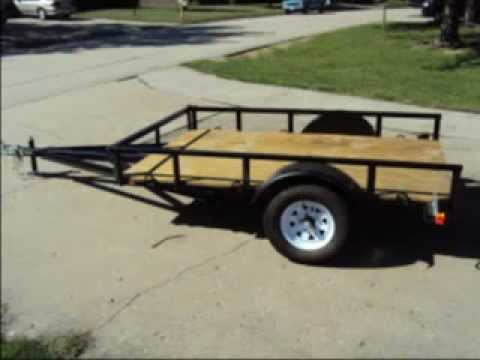 Homemade Utility Trailer Youtube