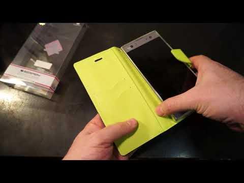 Анбоксинг кожаного чехла-книжки для смартфона для Sony Xperia XA2