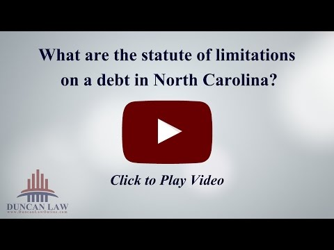 What Are The Statute Of Limitations For Debt In North Carolina