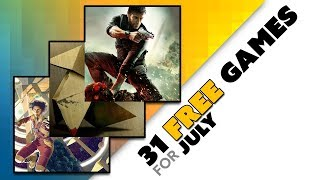31 FREE GAMES for PS Plus, Xbox Live, and Twitch Prime in July!