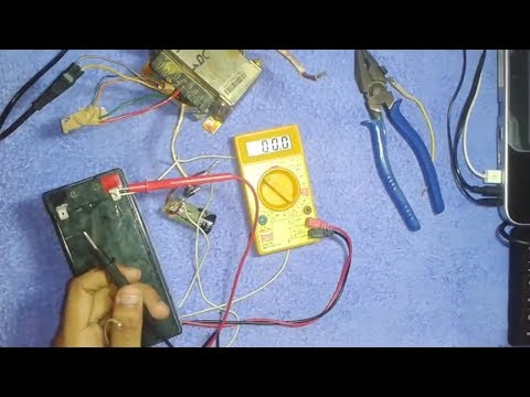 How to make 12 volt battery charger , 2 Ways  {HINDI}  {Updated 2017}