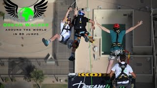 Rope Jump and BASE jump from largest ZIPLINE in the World from Princess Tower - Dream Walker 6