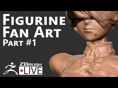 2B from NieR Automata #1: Body, Form and Silhouette - Fan Art sculpting with ZBrush