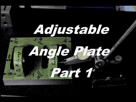 Adjustable angle plate,  improving and scraping - Part 1