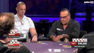 Matt Berkey dissects several hands after battling with poker legend...