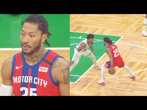 Derrick Rose Destroys Celtics Carrying Entire Pistons! Pistons vs Celtics