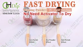 Fast Drying Dip Power 3 in 1 Color Match Gel Polish and Nail Lacquer