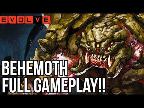 I AM BEHEMOTH!! Evolve Gameplay Walkthrough - Multiplayer (Behemoth Gameplay PC 1080p)