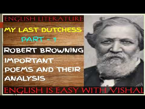 ulysses and my last duchess My last duchess by robert browning is considered a dramatic monologue because it has an implied audience, no dialogue.