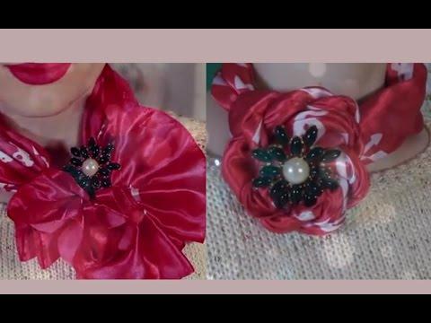 Как оригинально завязать шарф/палантин/платок на голове