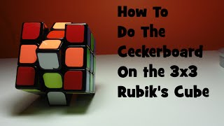 Gambar cover How To Do Checkerboard On The 3x3- Tutorial[Cubing Ninja]
