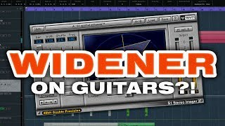 How to use a STEREO WIDENER plugin on metal guitars - tutorial