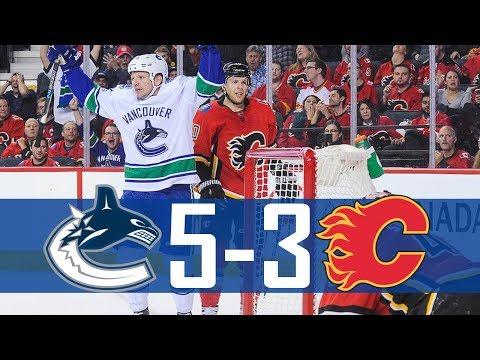 Canucks vs Flames | Highlights | Nov. 7, 2017 [HD]