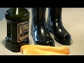 Super easy cleaning tip to shine dull Hunter boots / In a pinch :)