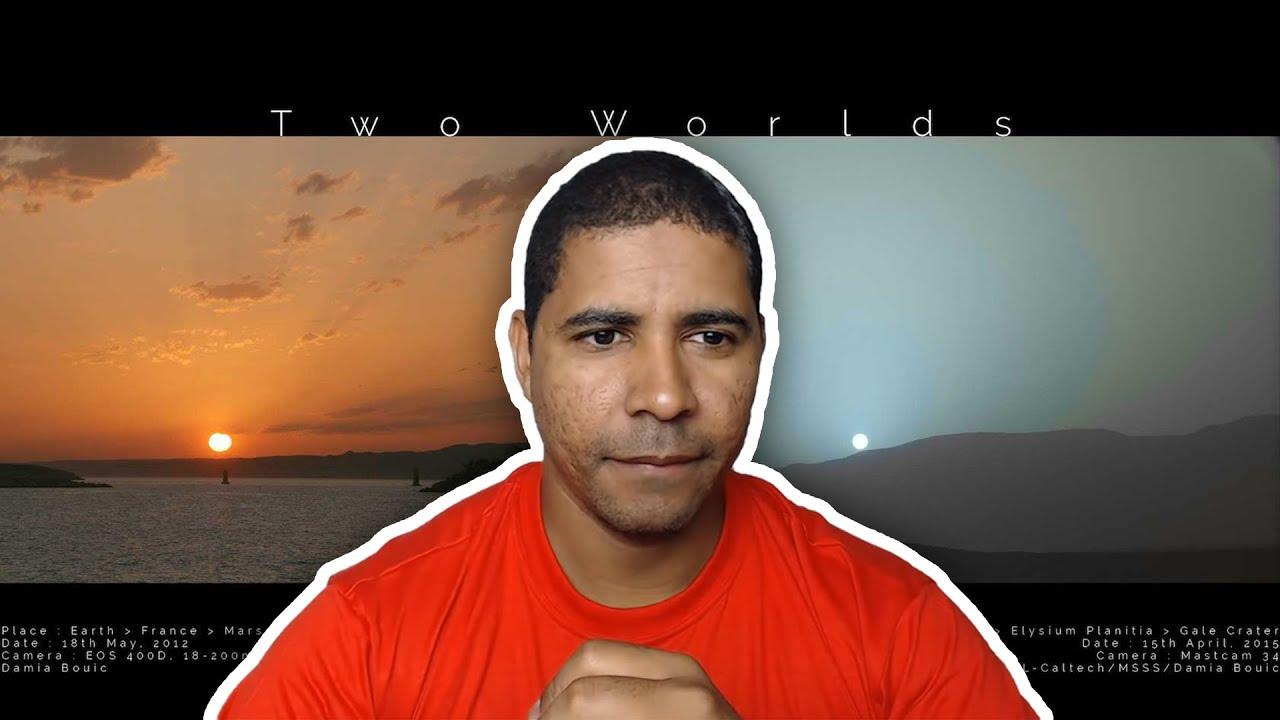 Leandro e o Pôr do sol visto da Terra e de Marte