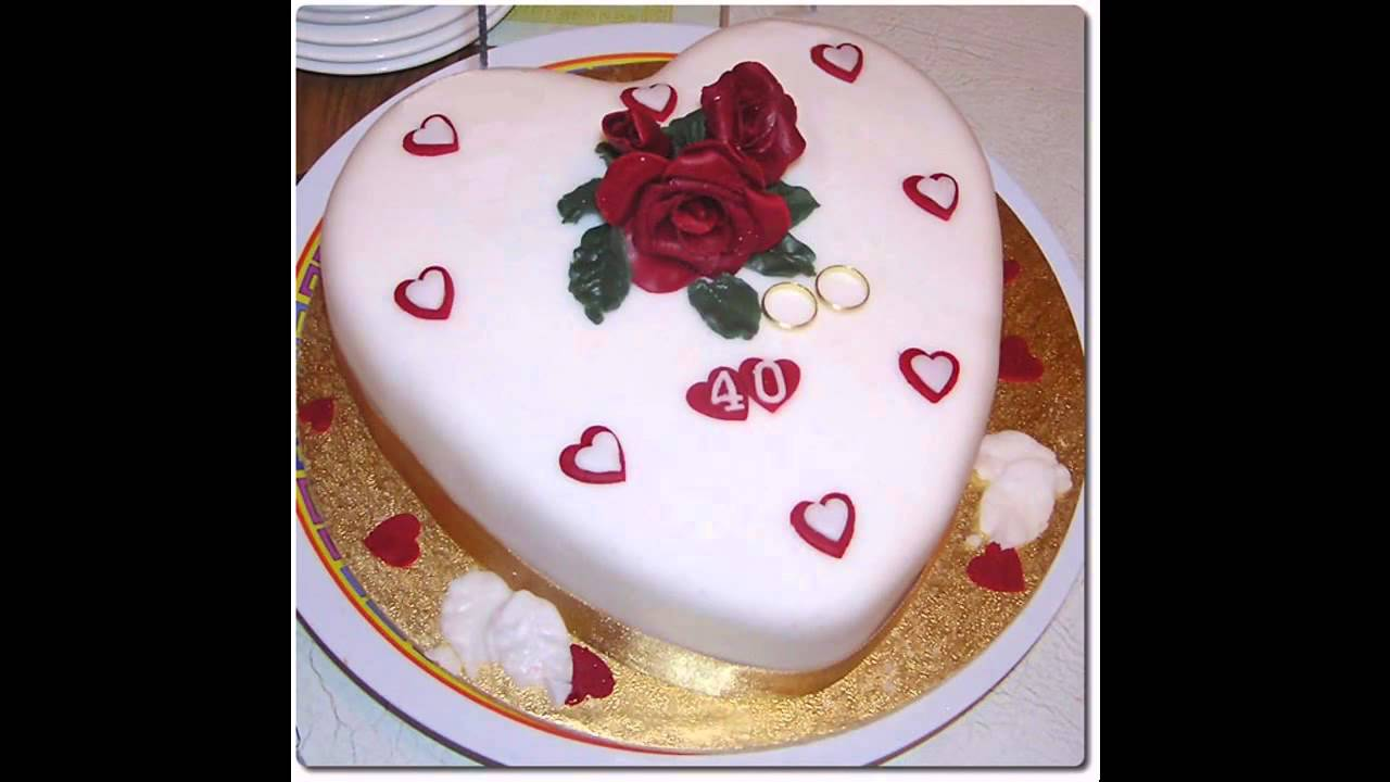 Wedding anniversary cake decorations ideas YouTube