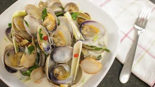 Coconut Lemongrass Steamed Clams Recipe ต้มข่าหอยลาย - Hot Thai Kitchen
