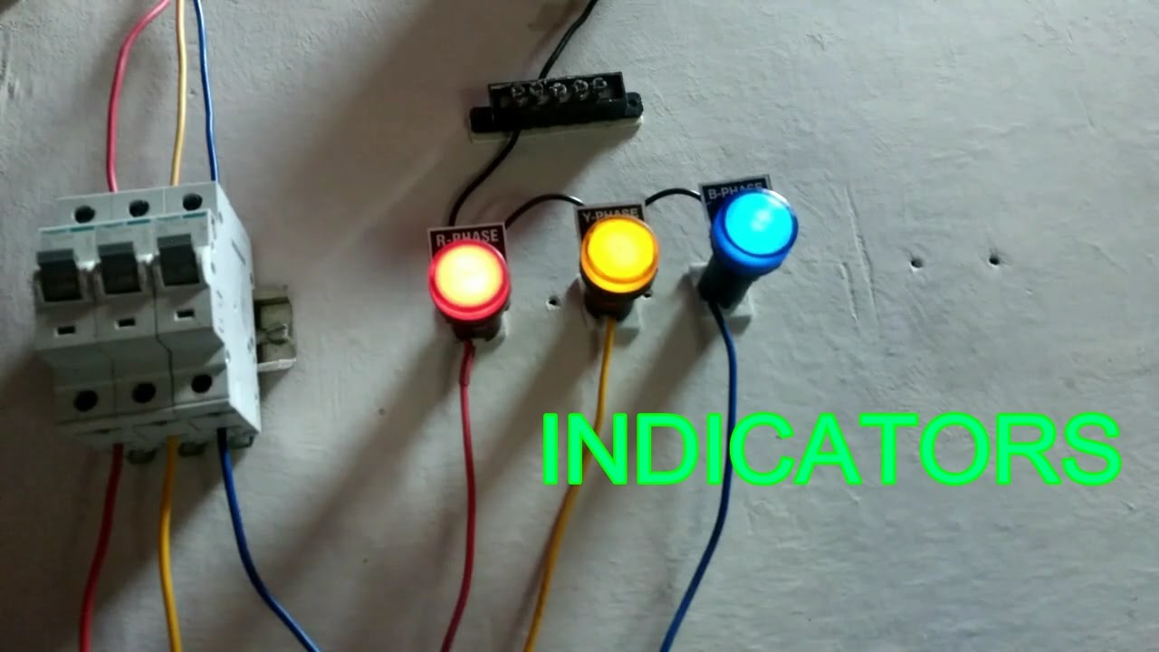 how to connect indicators r,y,b phase, how to work indicators - in tamil &  english