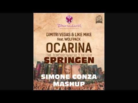 Dimitri Vegas & Like Mike Vs MAKJ  - Ocarina Springen (Simone Conza Mashup)