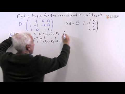 how to find the nullity of a matrix