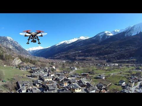 DRONE - Morgex & Cascate di Lillaz dall'alto (TEST Detect XK380 & Firefly 8s)
