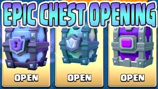 Clash Royale | EPIC CHEST OPENING ! Legendary , Epic & Super Magical Chests ! INFERNO DRAGON?