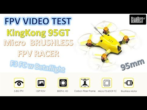My First BRUSHLESS MICRO Racer! KingKong 95GT 95mm Micro Brushless FPV Racing Drone [FPV Video Test]
