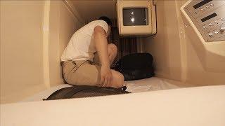 일본 캡슐호텔에서 찐하게 하룻밤