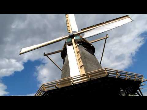 Working flour windmill in Holland