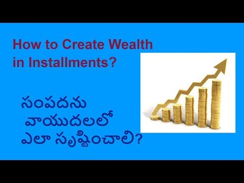 How to create Wealth in Installments in Equity Mutual funds? (Telugu)