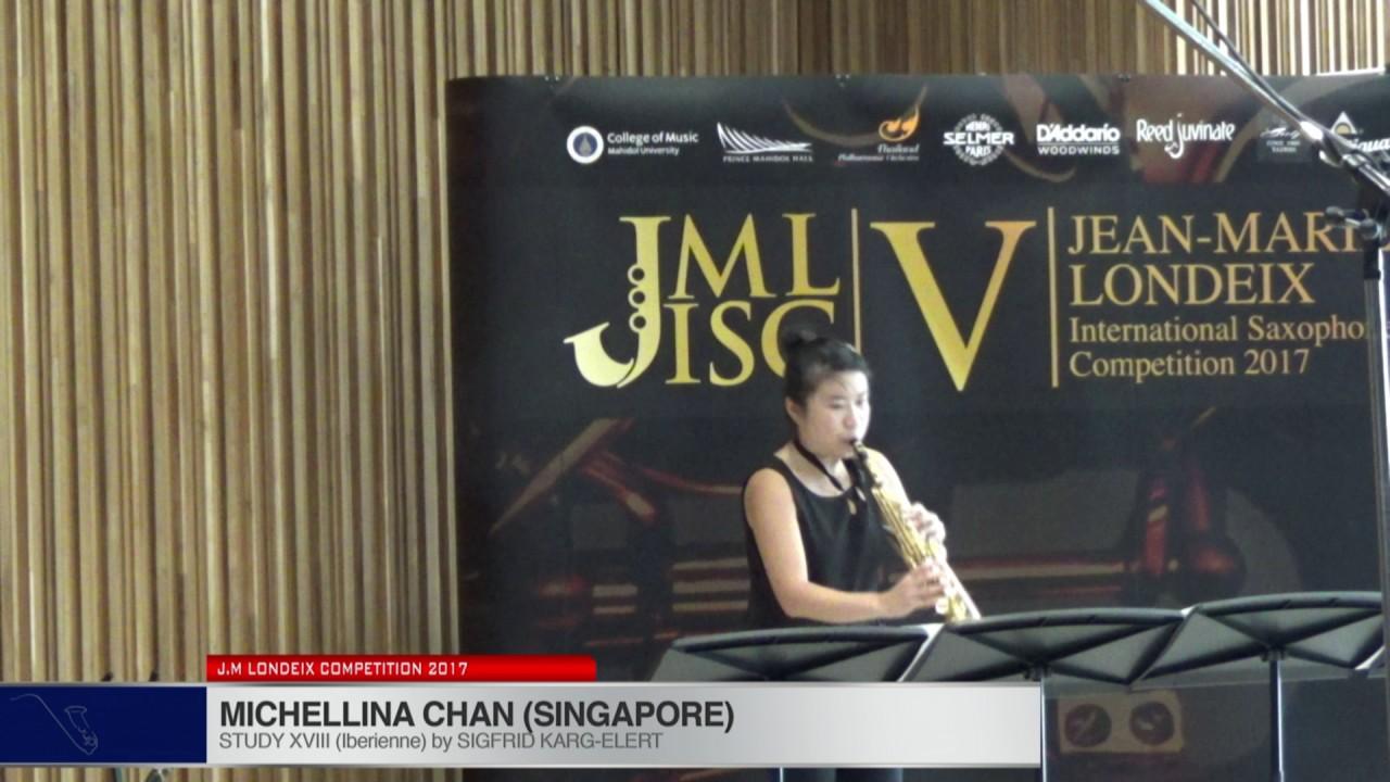 Londeix 2017 - Michellina Chan (Singapore) - XVIII Iberienne by Sigfrid Karg Elert