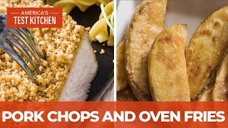 How to Make Crispy Deviled Pork Chops and Thick-Cut Oven Fries