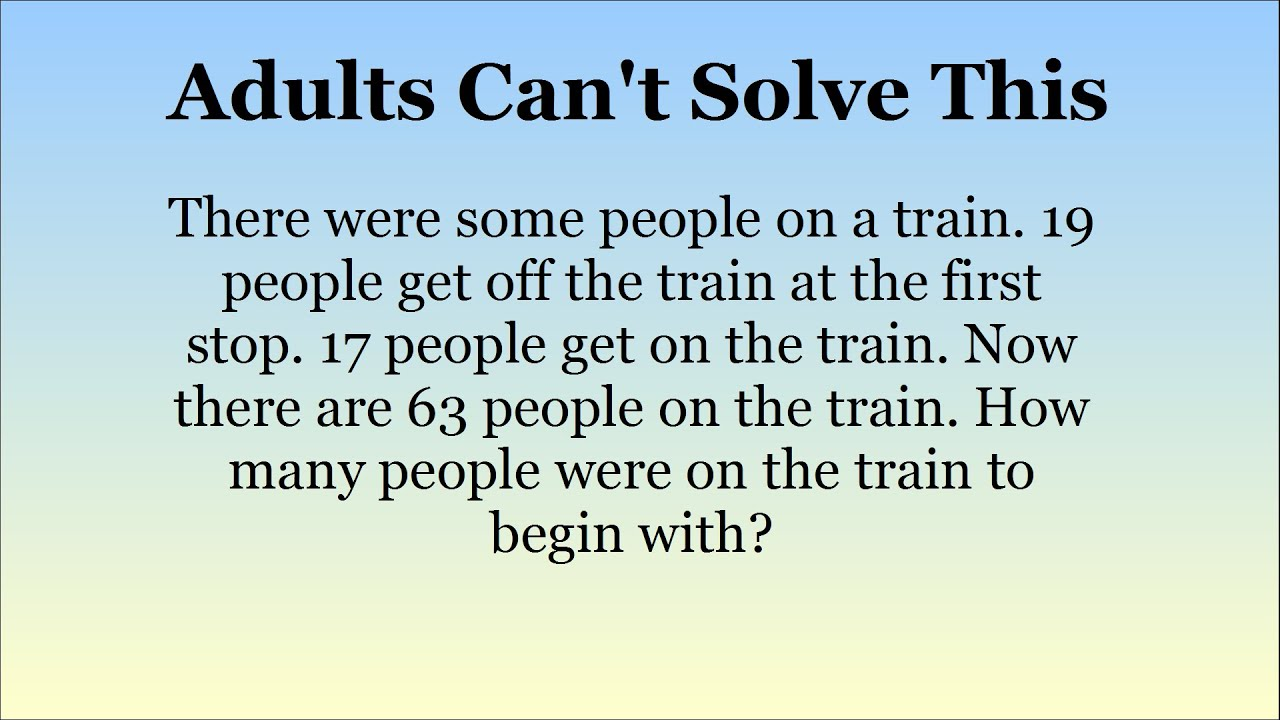 Adults Stumped By Maths Questions For 15 Year Olds. Can You Solve ...