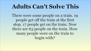 Adults Stumped By Maths Questions For 15 Year Olds. Can You Solve Them? thumbnail