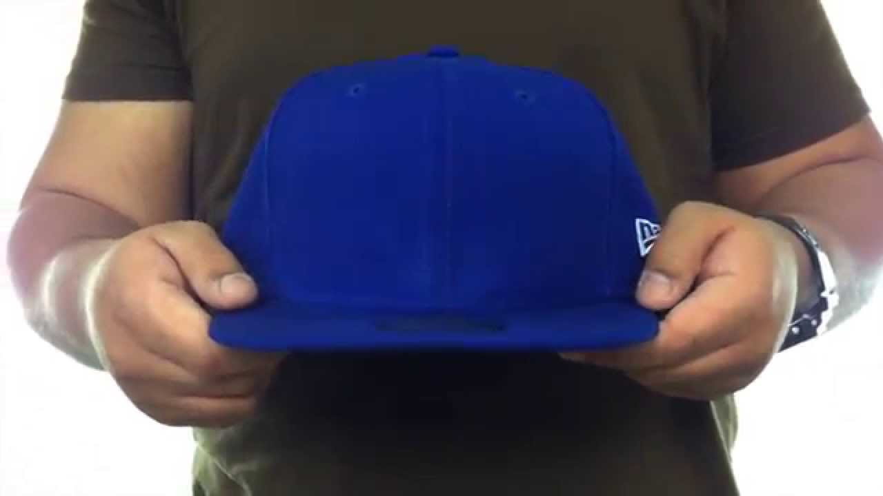 New Era  59FIFTY-BLANK  Solid Royal Fitted Hat - YouTube fa3d6613098