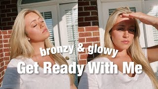 5 Minute Hair and Makeup GRWM | bronzy & glowy for spring